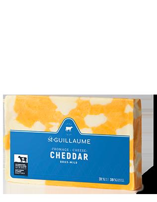 Cheddar doux marbré bloc de 340 g