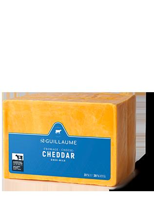 Cheddar doux jaune bloc de 1 kg