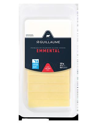Fromage Emmental en tranche format de 120 g