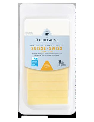 Fromage suisse léger en tranche format de 120 g