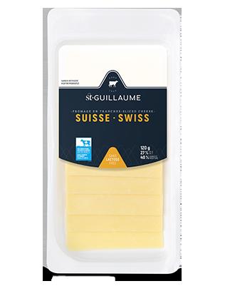 Fromage suisse en tranche format de 120 g