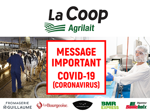 MESSAGE IMPORTANT – COVID-19 (CORONAVIRUS) – 16 MARS 2020