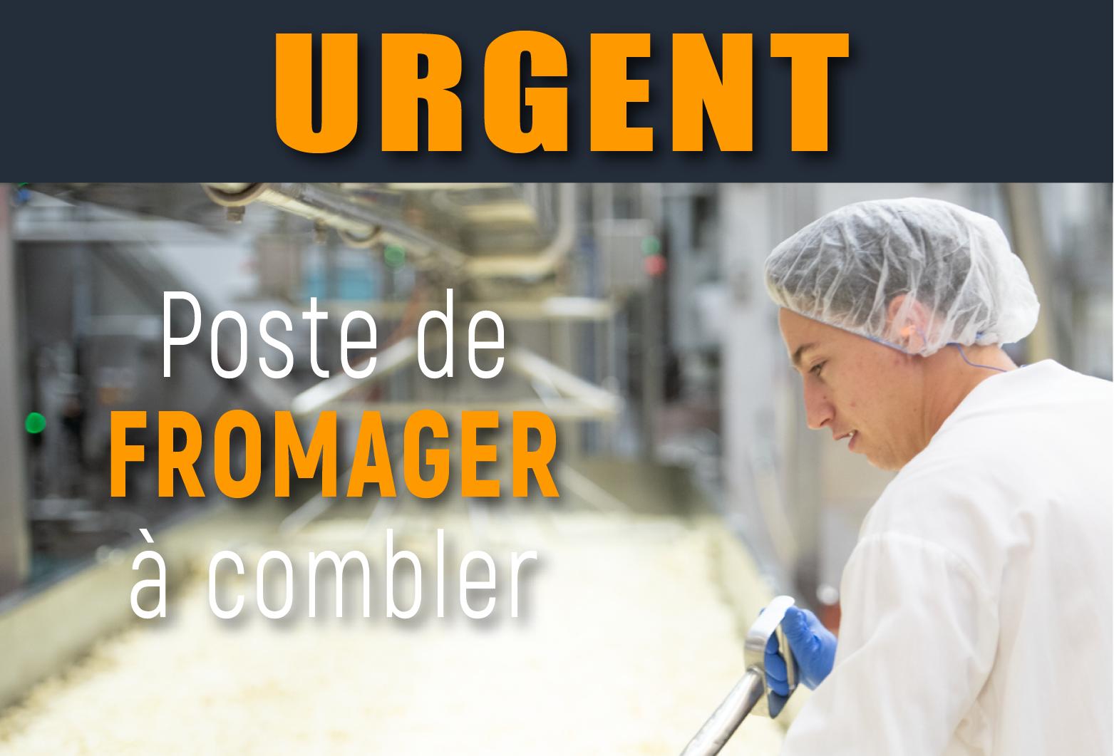Urgent - Fromager recherché