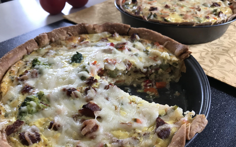 Quiche au jambon, aux légumes et au Suisse St-Guillaume