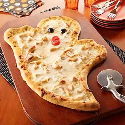 Pizza en forme de fantôme