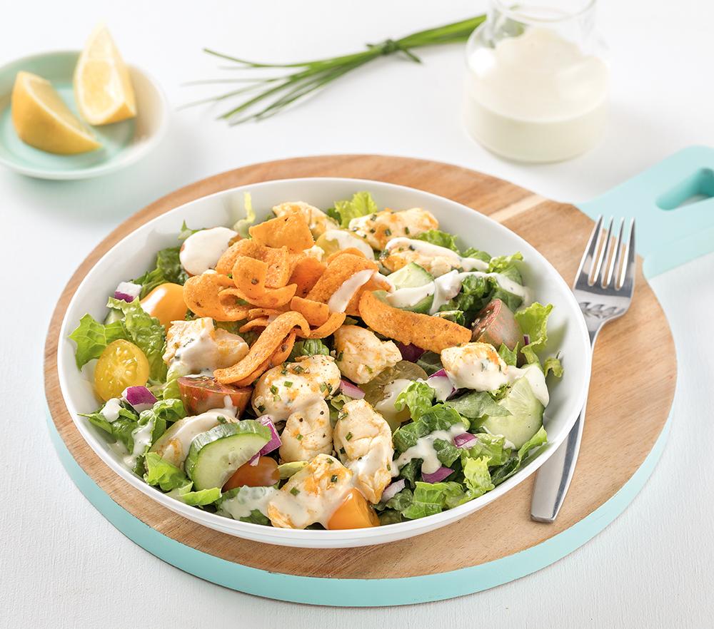 Salade crémeuse au Cheddar en grains Le P'tit Frais